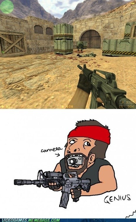 camera angle counter strike first-person shooter genius meme teeth