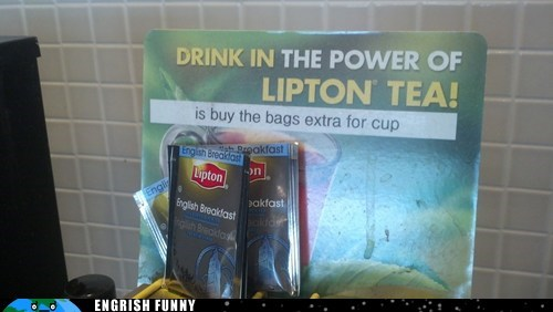 lipton sign tea tea bag