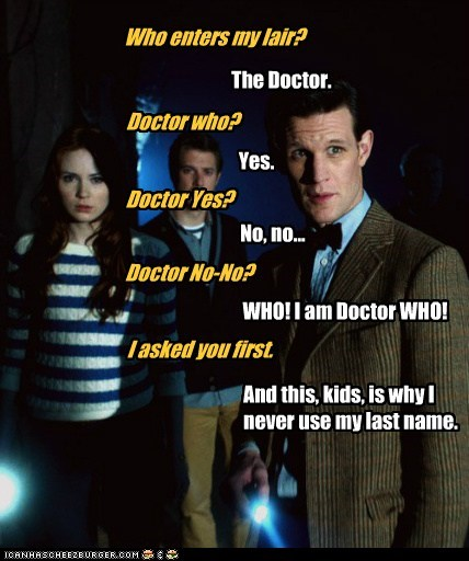 Matt Smith the doctor doctor who yes confusion whos-on-first karen gillan arthur darvill rory williams amy pond - 6541882112