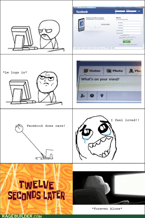 forever alone facebook computer guy - 6542162432