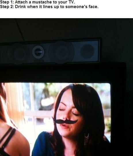 drinking game mustache - 6542556160