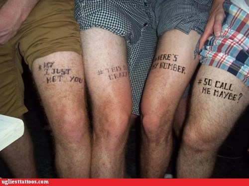 call me maybe carly rae jespen thigh tattoos - 6542596864
