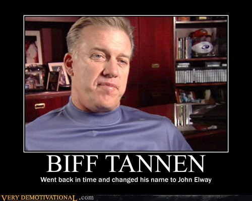 back to the future,biff tannen,john elway