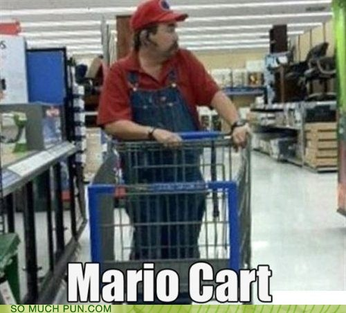 cart,double meaning,literalism,mario,Mario Kart,video game