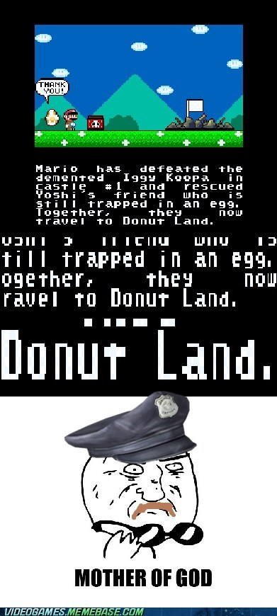 cops donut land mario mother of god