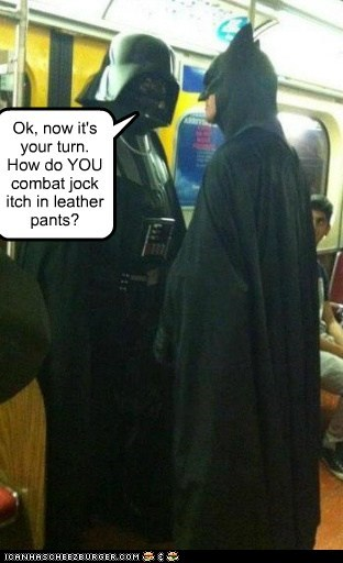 batman,darth vader,jock itch,meeting,secrets,star wars,your turn