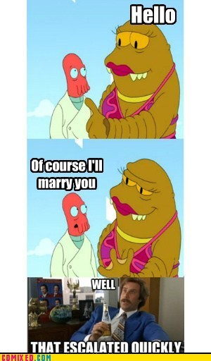 cartoons futurama TV well that escalated quick well that escalated quickly why not zoidberg - 6544229376