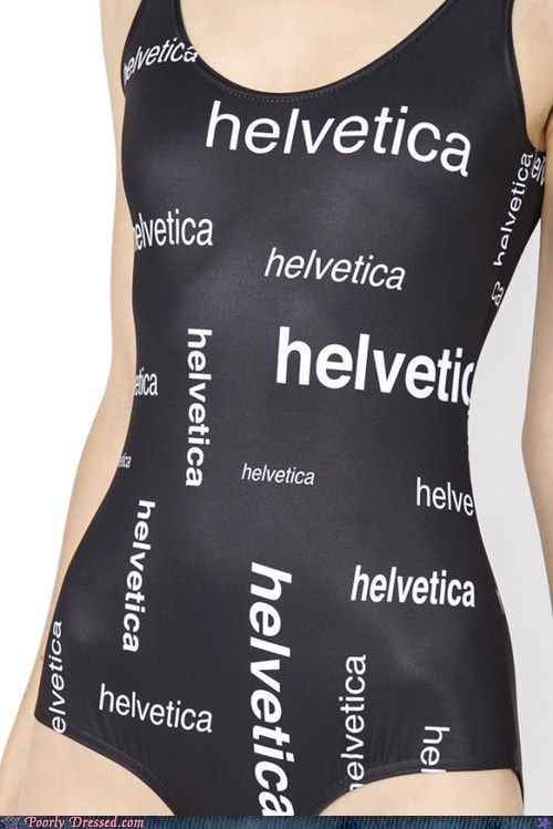fonts helvetica one piece swimsuit - 6544322816