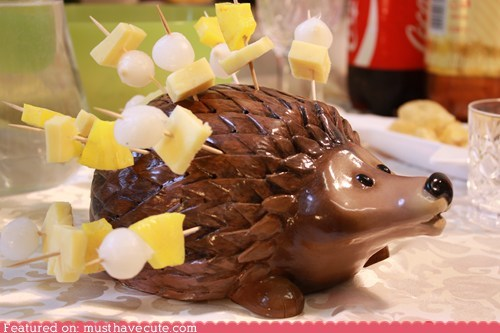 hedgehog,holder,snacks,toothpicks