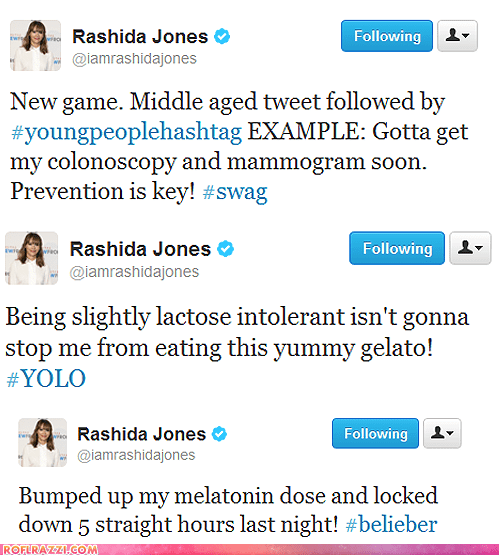 actor,celeb,funny,rashida jones,tweet,twitter