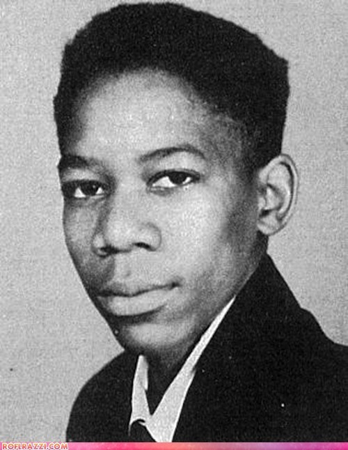 actor celeb high school Morgan Freeman young - 6544456448