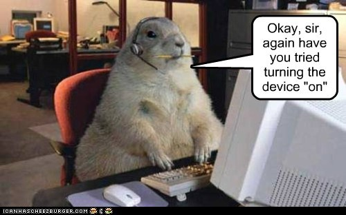 basic captions device gopher gophers slow tech support turn it on