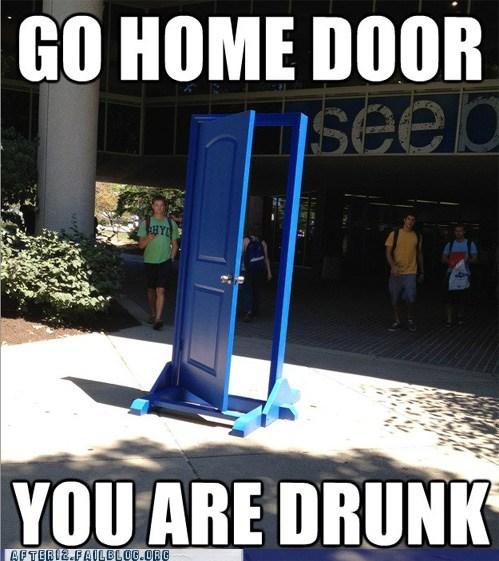 alcohol door give me your keys go home door you are drunk - 6544521984