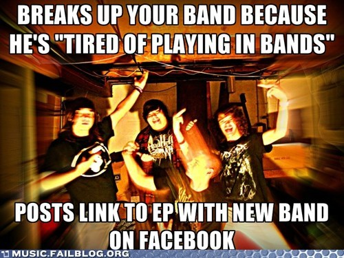 bands,facebook