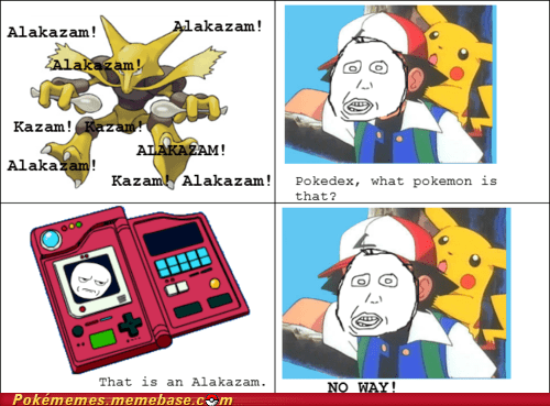 alakazam,anime,ash,pokedex,rage comic,Rage Comics