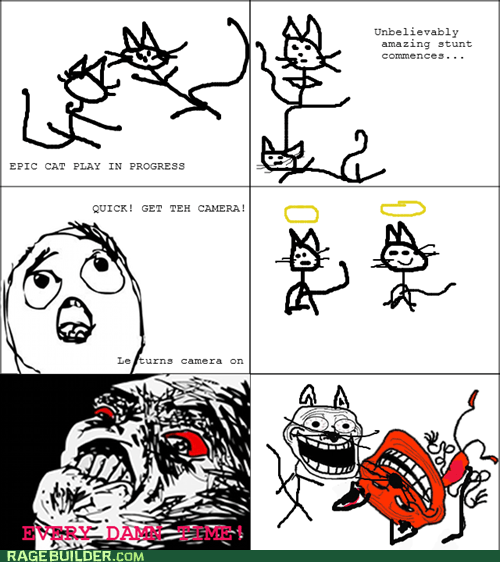 trollface missed opportunities Cats