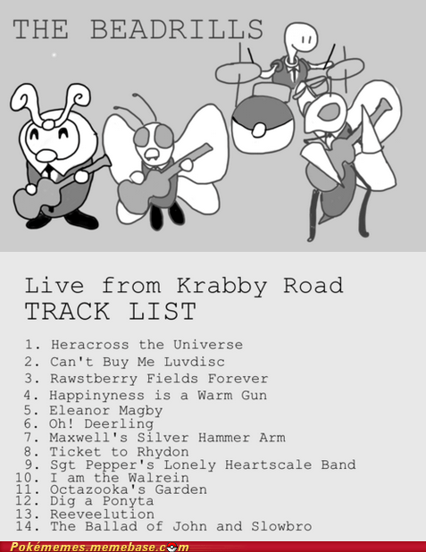 band,crossover,Music,Pokémon,the Beatles