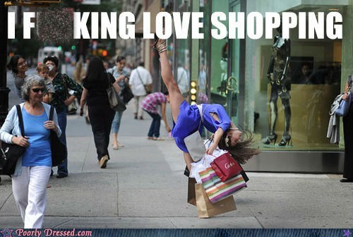high kick love shopping