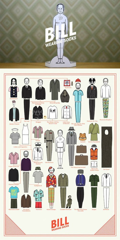 bill murray,bill murray tribute,paper doll