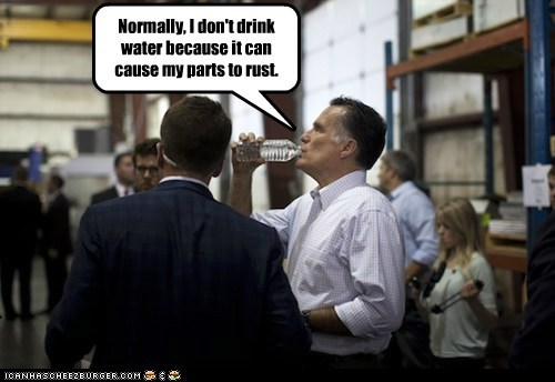 Mitt Romney normally robot rust water