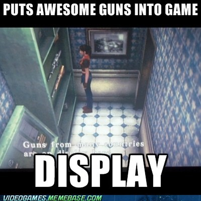 display horror game meme resident evil video game logic - 6544782848