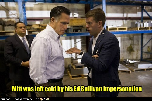 cold impersonation impression Mitt Romney not impressed