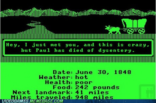 call me maybe dysentery oregon trail PC retro
