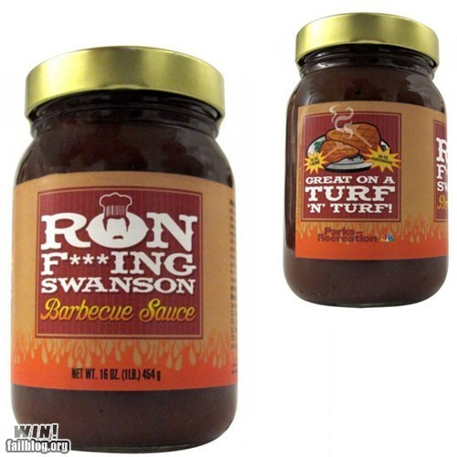 parks and recreation ron swanson sauce steak sauce - 6544849920