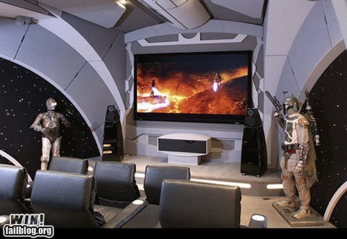 home theater,movie theater,nerdgasm,star wars