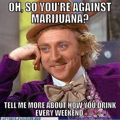 alcohol,drinking,drugs,marijuana,skeptical wonka