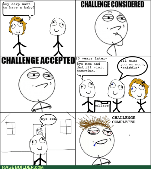 kids Challenge Accepted parenting college - 6544942080
