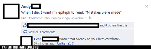 facebook insult mistakes