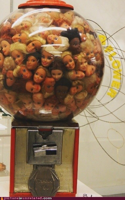 barbies gumball machine heads - 6545064960
