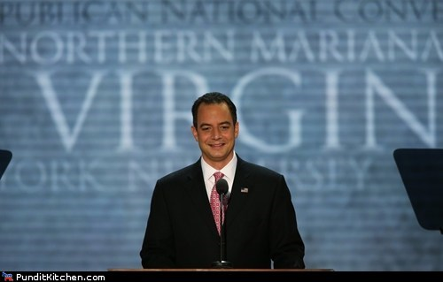 Awkward crop oops Photo Reince Priebus rnc virgin