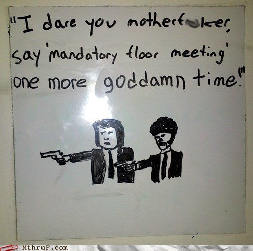 whiteboard Samuel L Jackson pulp fiction