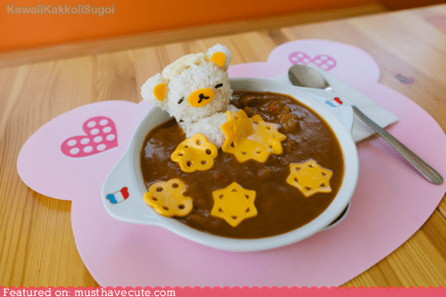cheese,curry,epicute,rice,Rilakkuma