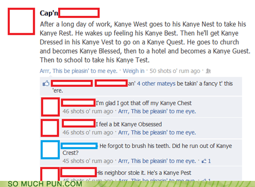 facebook,kanye west,rhyming,surname,variations on a theme