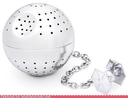 Death Star,metal,star wars,tea,tea infuser