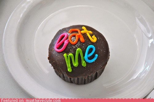 chocolate cupcake eat me epicute glitter icing - 6545430784