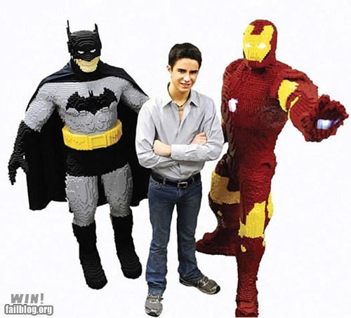 batman,iron man,lego,nerdgasm