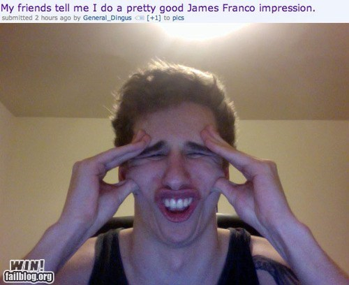 best of week celeb clever Hall of Fame impersonation James Franco - 6545496832