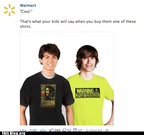 facebook marketing photoshop T.Shirt Walmart