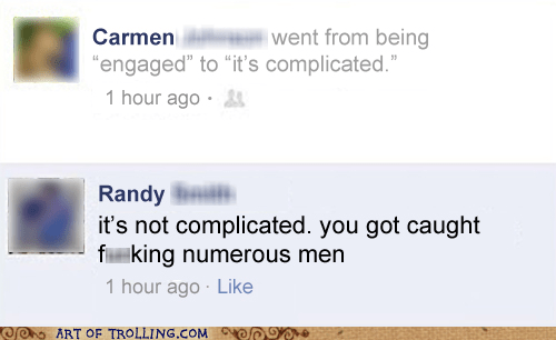 caught complicated engaged facebook relationships