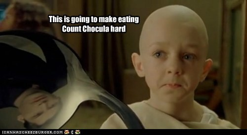 bending,broken,count chocula,eating,hard,keanu reeves,neo,ruined,Sad,spoon,the matrix