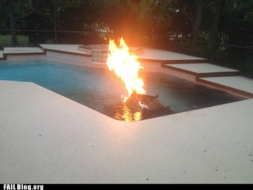 barbecue,cooking,fire,fire extinguisher,food,pool