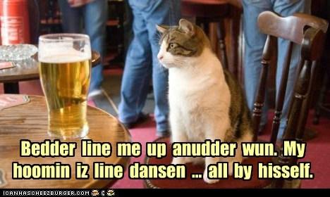 beer dance drunk human Cats captions - 6546026240