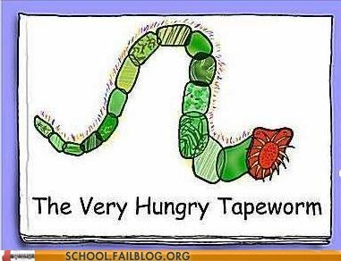 bargain books,kids books,the very hungry tapeworm