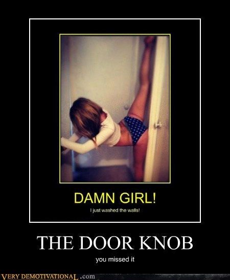 THE DOOR KNOB you missed it
