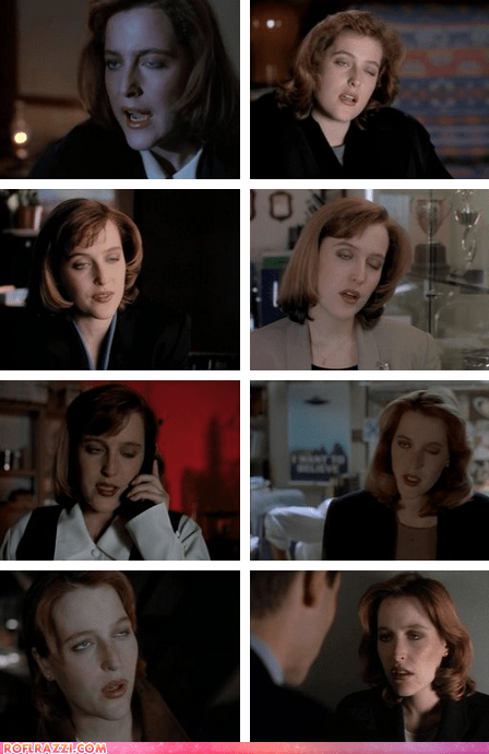90s,actor,celeb,derp,funny,gillian anderson,TV,x files