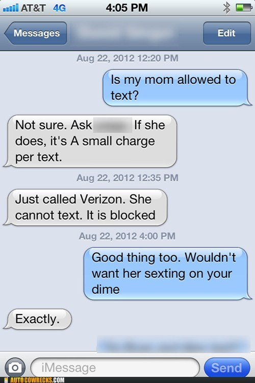 Mom's can't Sext!